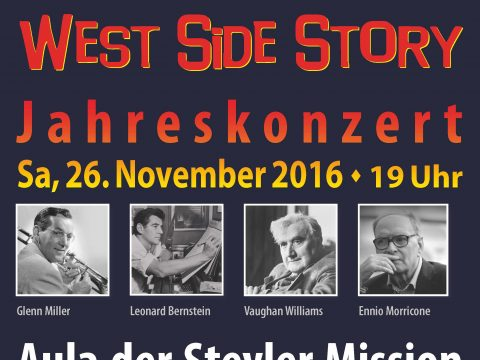 Plakat des Konzerts West Side Story am 26.11.2016