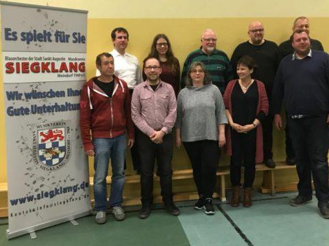 """Der Vorstand des Jahres 2018 des Musikverein """"Siegklang"""" Meindorf"""