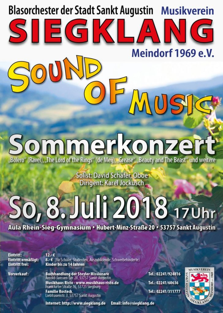 "Plakat des Sommerkonzert ""Sound of Music"" 2018"
