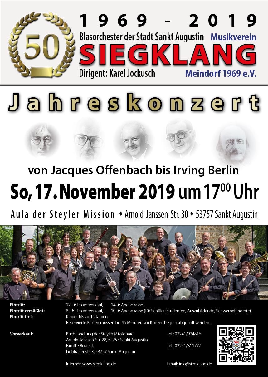 Plakat des Jahreskonzerts 2019