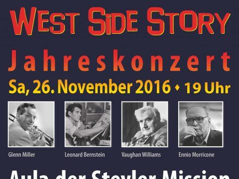 Plakat des Konzerts West Side Story am 26.11.2016
